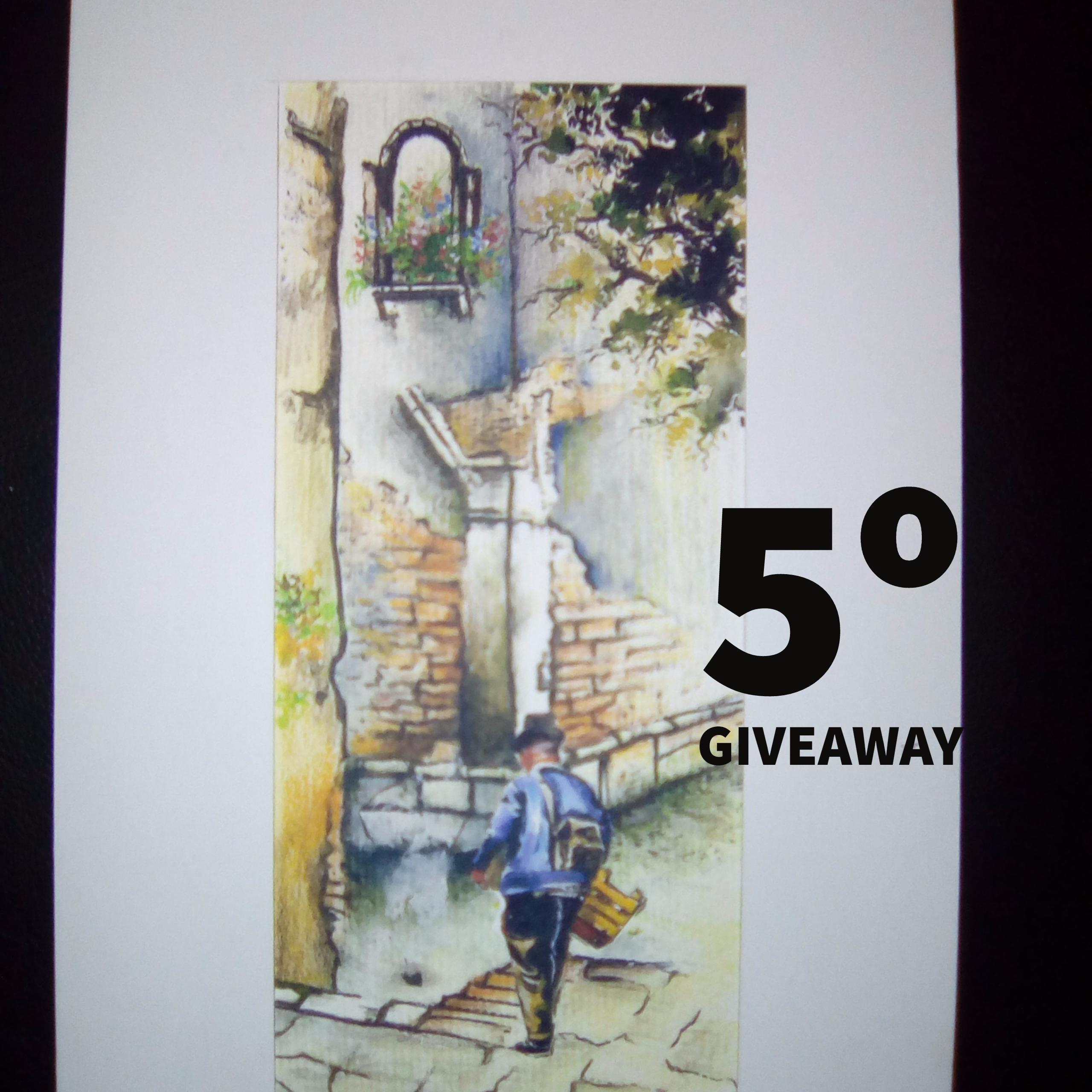 5º Giveaway – Aguarela