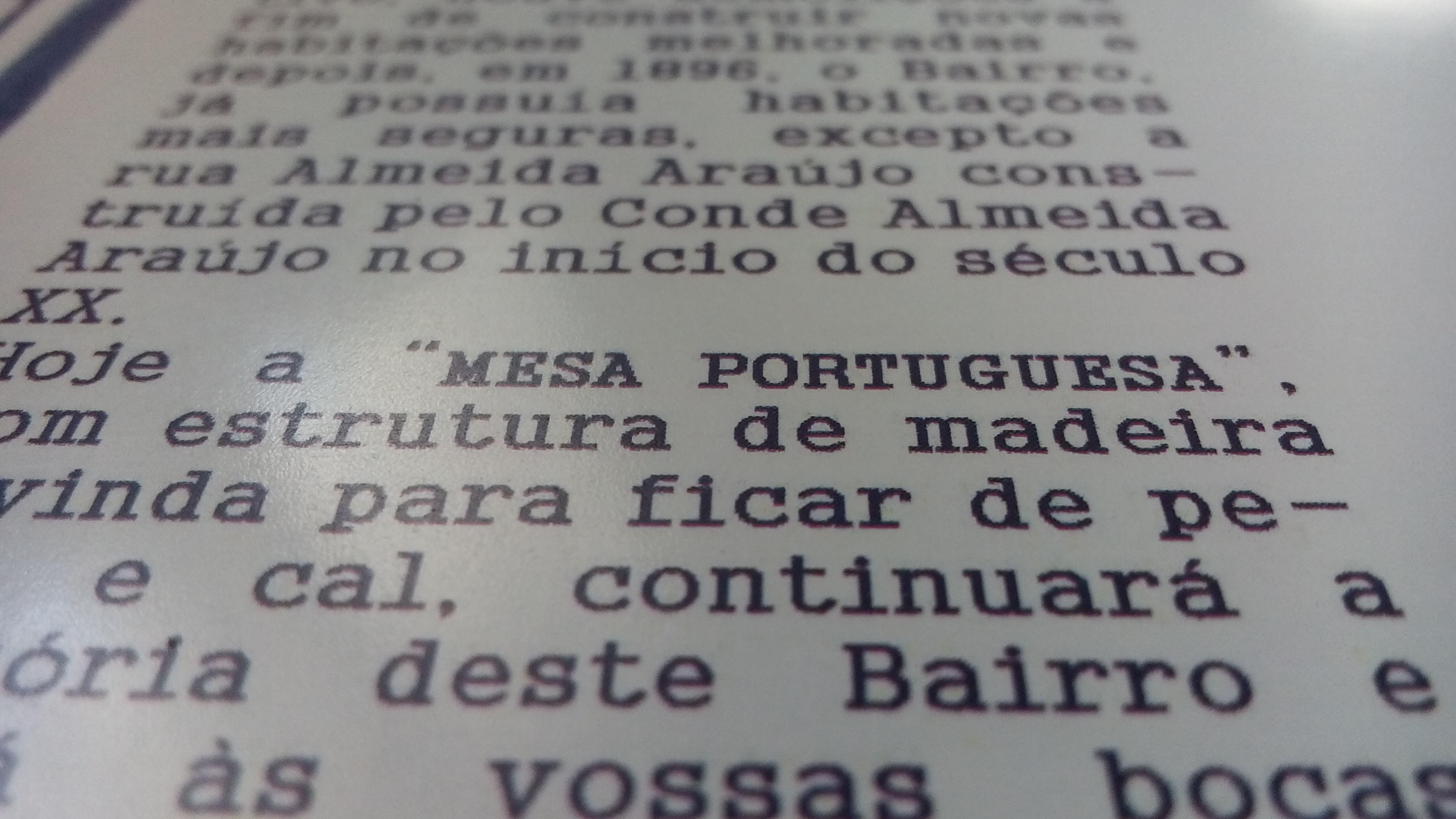 Mesa Portuguesa com certeza