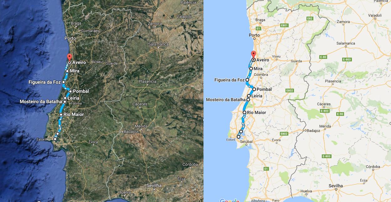 Rota Lisboa – Aveiro